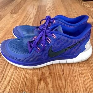 Nike Free 5.0 Women's Shoes Sz 9.5 Violet/Fuschia
